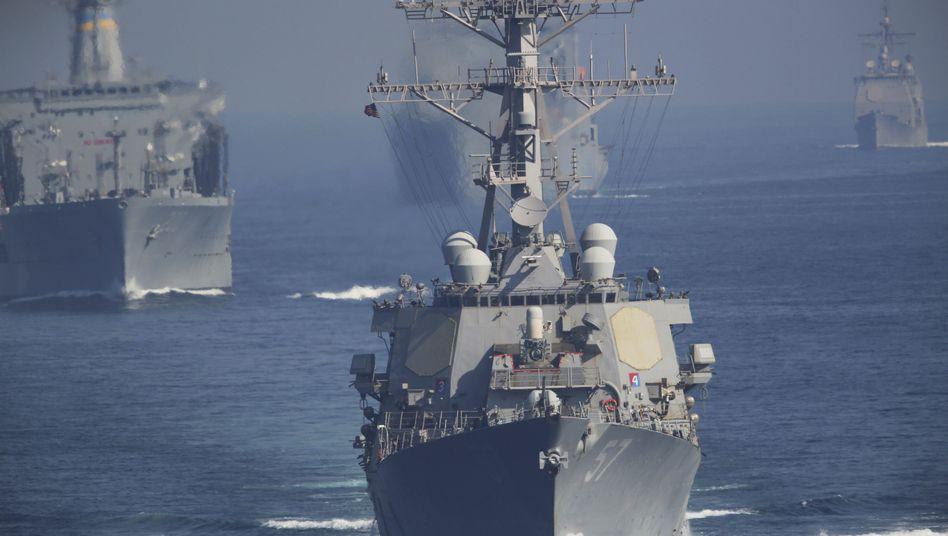 US-Zerstörer im Persischen Golf (Archivbild): Die Spannungen in der Region wachsen
