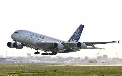 Airbus A380: Start geglückt
