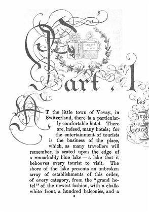 """Seite aus """"Transatlantic Sketches"""" von Henry James: Google digitalisiert die Literatur der Welt"""