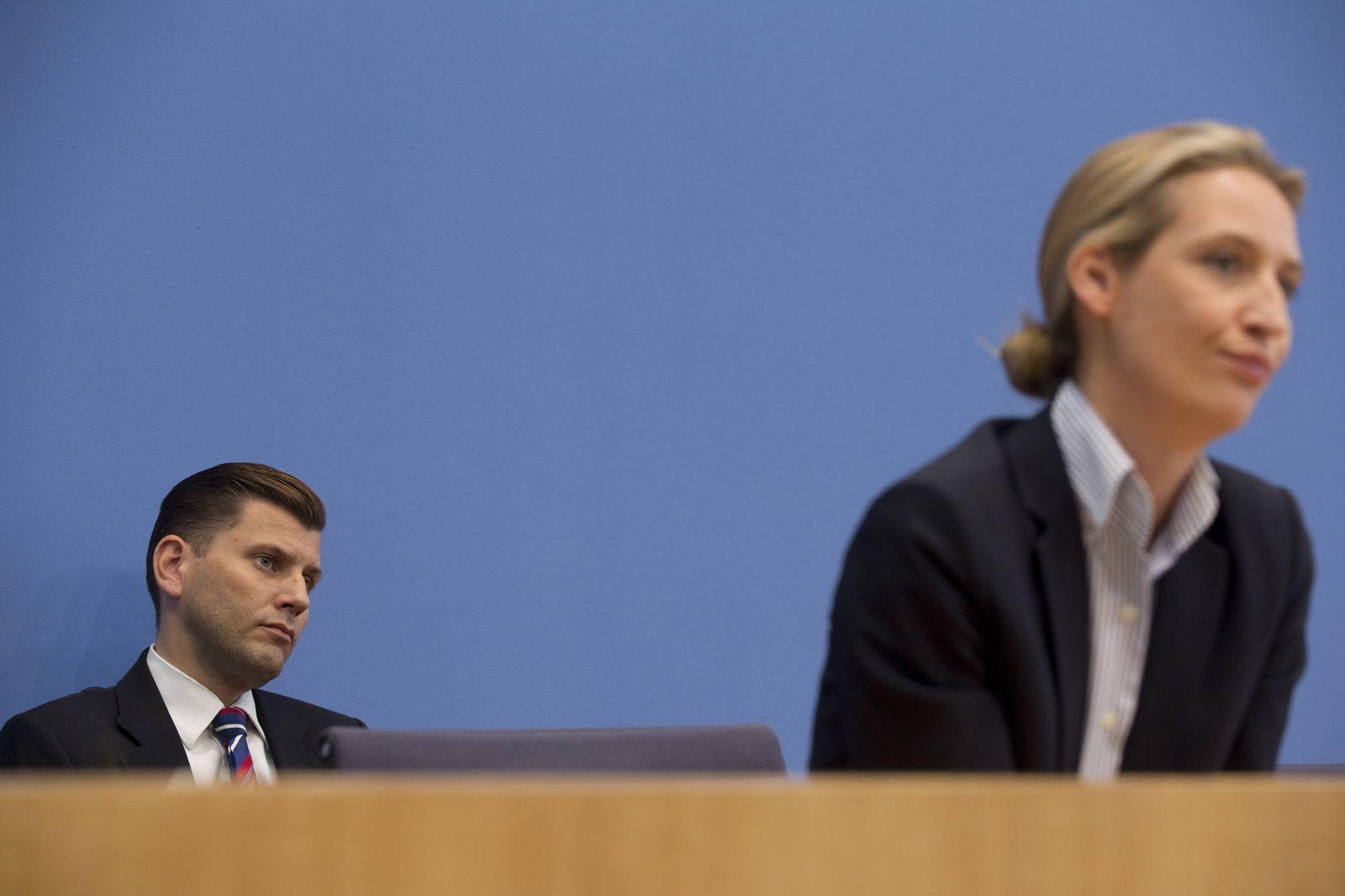 Deutschland, Berlin, Bundespressekonferenz, Thema Auswirkungen der Landtagswahlen auf die Bundespolitik der AfD, Christ