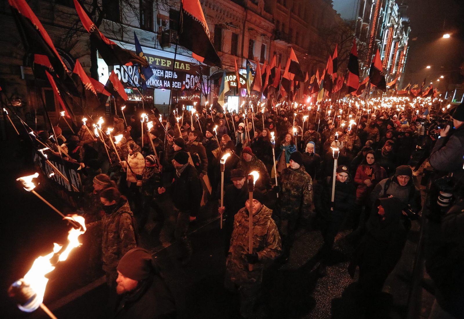 Ukrainians mark the 106th anniversary of Stepan Banderas birth