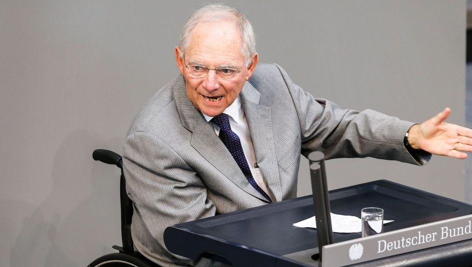 Schäuble im Bundestag: Für flapsige Sprüche bekannt