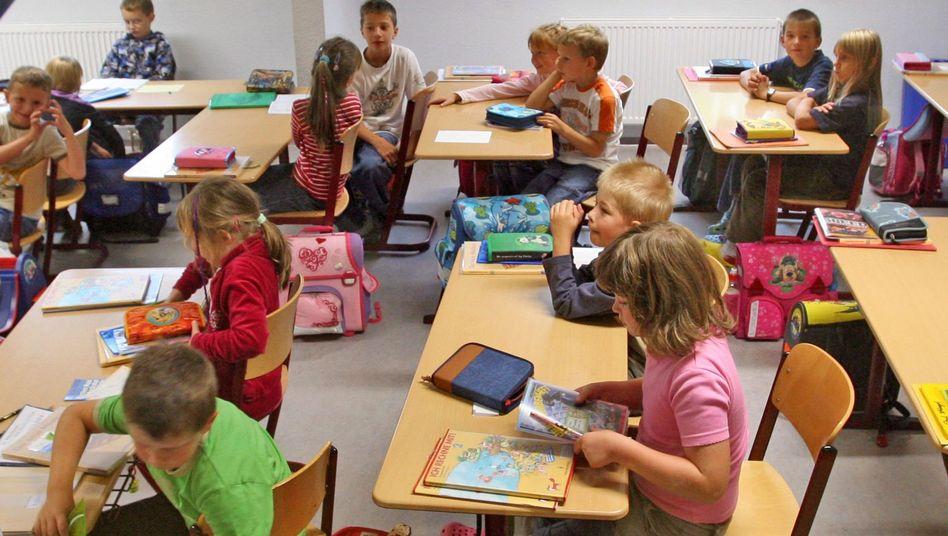 Schüler der vierten Klasse