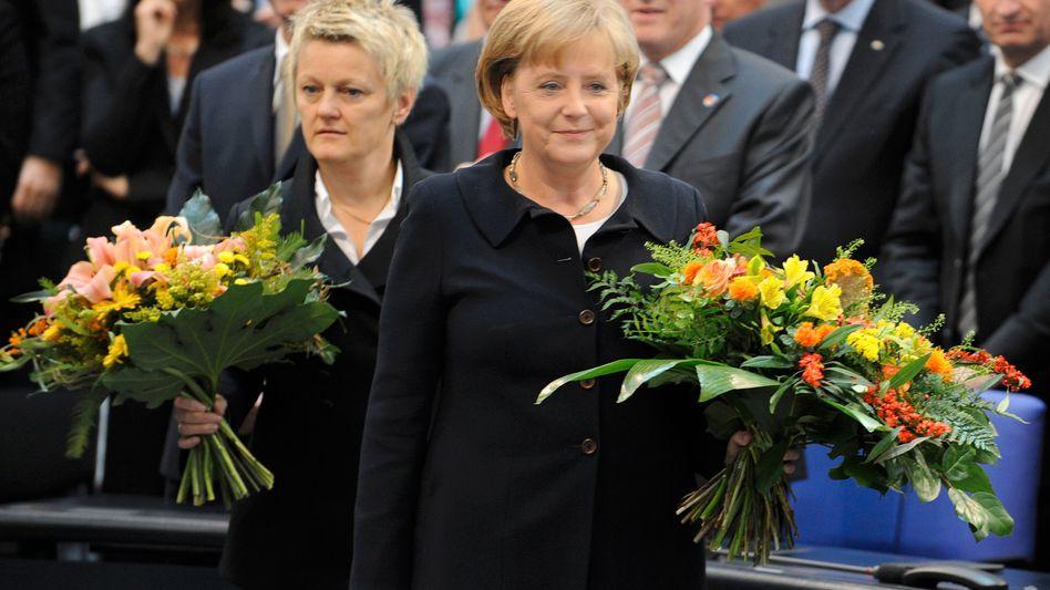 Künast, Merkel (nach Präsidentenwahl 2009): Wie gut können Schwarze und Grüne?
