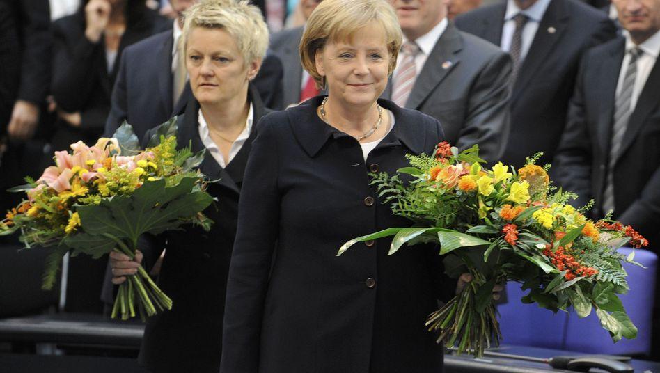 Chancellor Angela Merkel and Green Party floor leader Renate Künast: A match made in heaven?