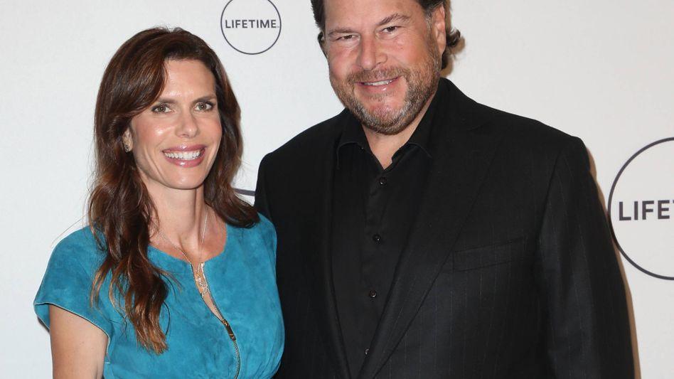 Lynne und Marc Benioff