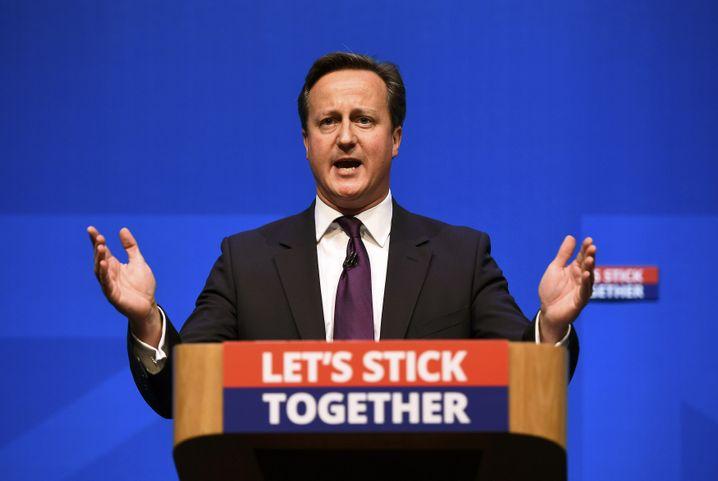 Ex-Premier Cameron 2014 im Wahlkampf gegen die schottische Unabhängigkeit