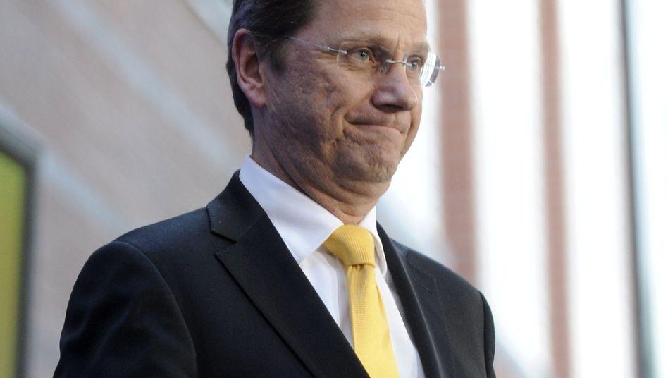 """FDP-Chef Westerwelle am Sonntag in Berlin: """"Das war ein Warnschuss für die Regierung"""""""