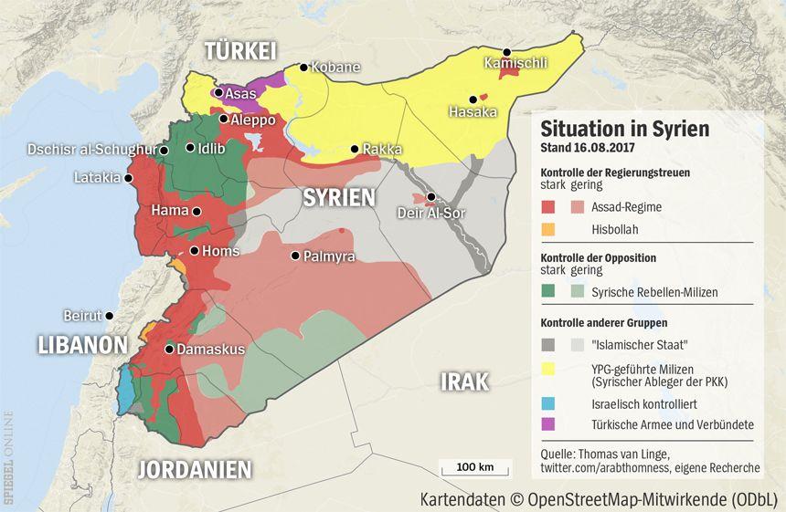 Grafik Karte Syrien - 16-08-2017