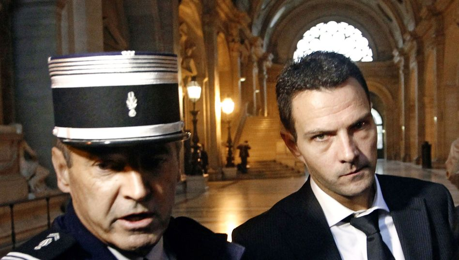 French rogue trader Jerome Kerviel arriving in court in early October.