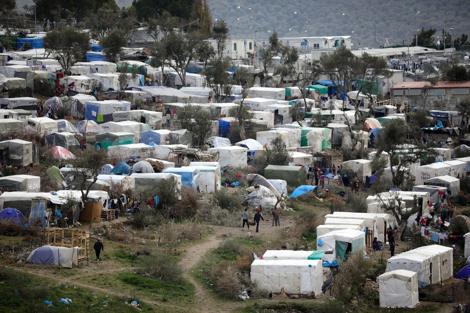 Moria refugee camp - Mitilyne, Greece 07.03.2020., Mitilyne, Greece - Moria refugee camp on the island of Lesbos was or