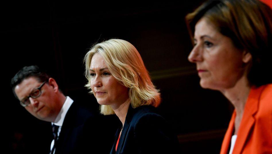 SPD-Übergangschefs Thorsten Schäfer-Gümbel, Manuela Schwesig, Malu Dreyer: