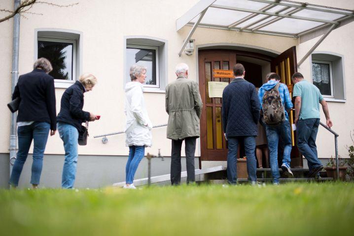 Wähler in Düsseldorf