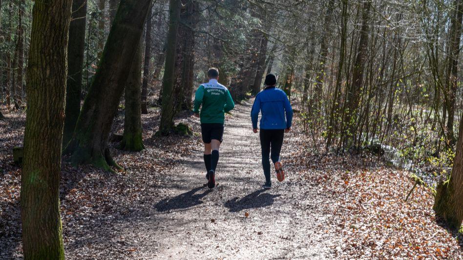 Jogger im März bei Vechta