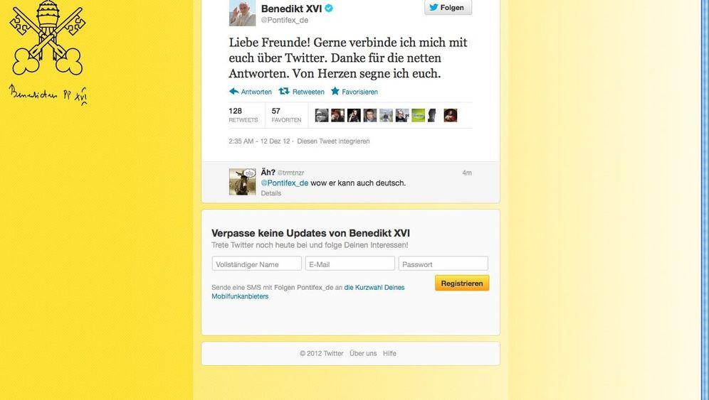 @pontifex: Der Papst twittert
