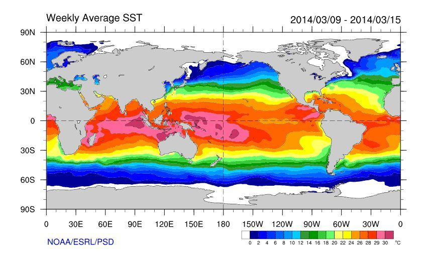 Animation El Niño - Weekly SST Totals for the past 52 weeks