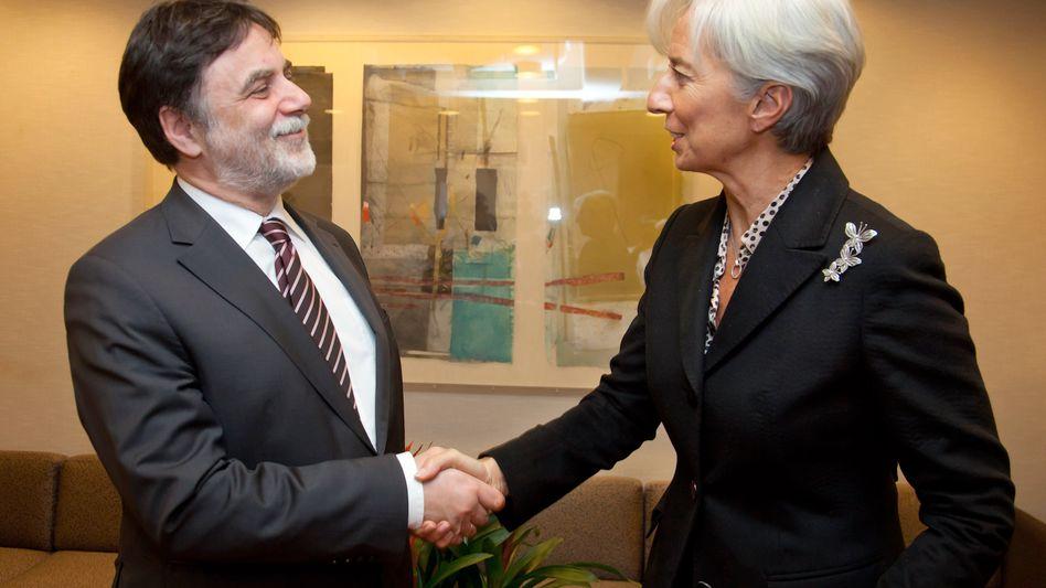 IWF-Chefin Lagarde, Ungarns Chefunterhändler Fellegi: Konkrete Maßnahmen verlangt