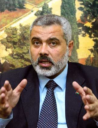 Palestinian Primer Minister Ismail Haniyeh
