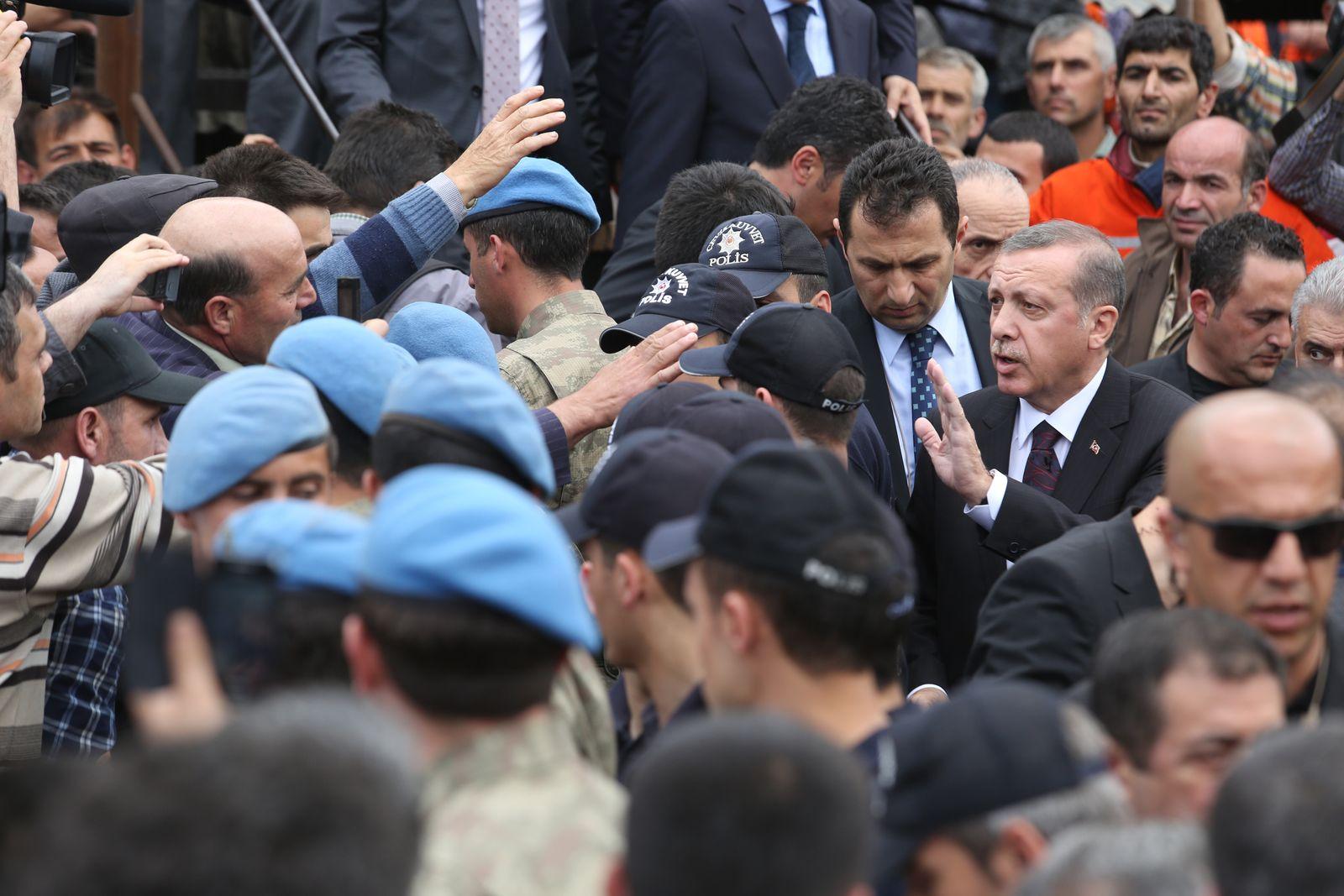 Erdogan beim Grubenunglück