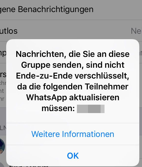 Screenshot von WhatsApp