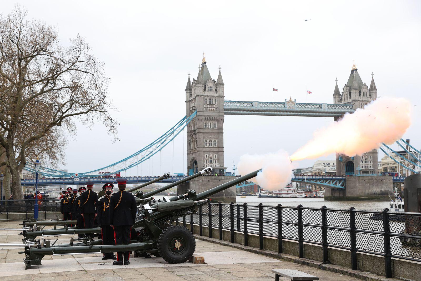 Historic Gun Salutes Mark The Passing Of His Royal Highness The Duke Of Edinburgh