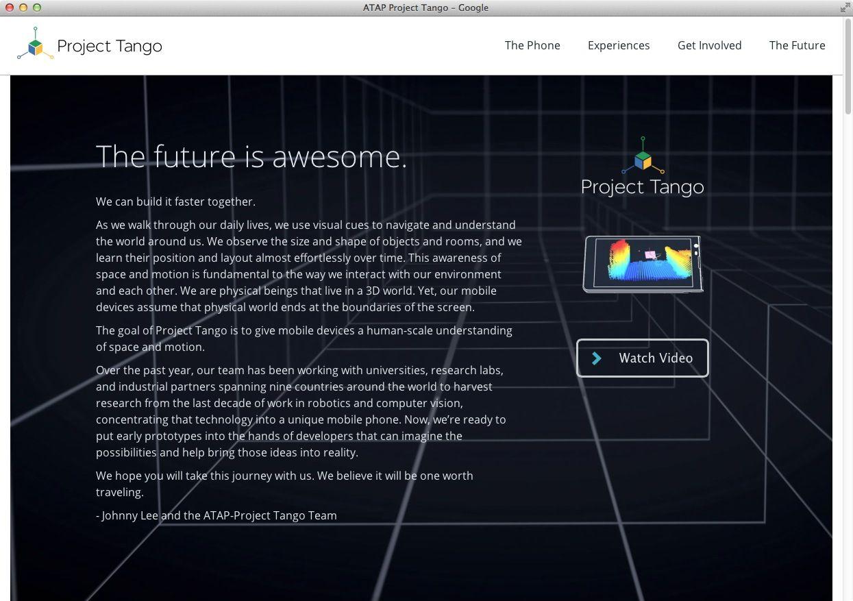 Screenshot / Google Project Tango