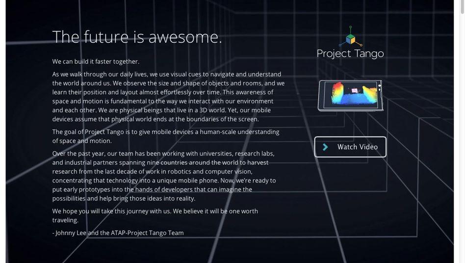 Google-Project Tango: 250.000 Datenpunkte pro Sekunde