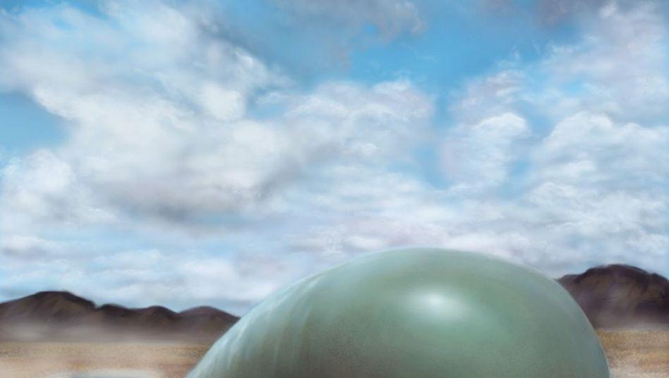 Künstlerische Darstellung eines fiktiven Lebewesens aus Silizium-Kohlenstoffverbindungen