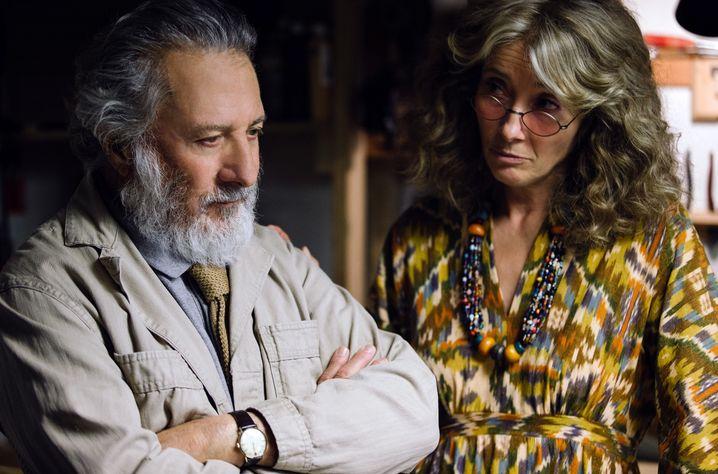 """Dustin Hoffman und Emma Thompson in dem Netflix-Film """"The Meyerowitz Stories (New and Selected)"""" von Noah Baumbach"""