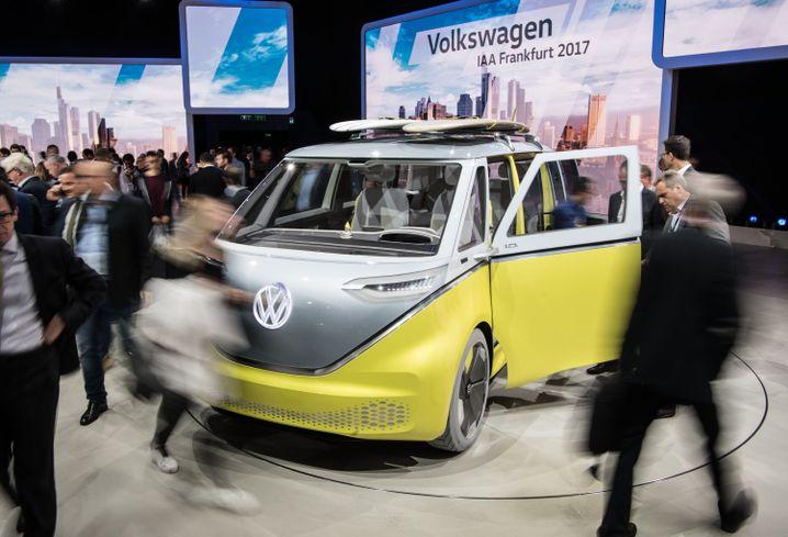Volkswagen-Studie VW I.D. - der elektrische VW-Bus