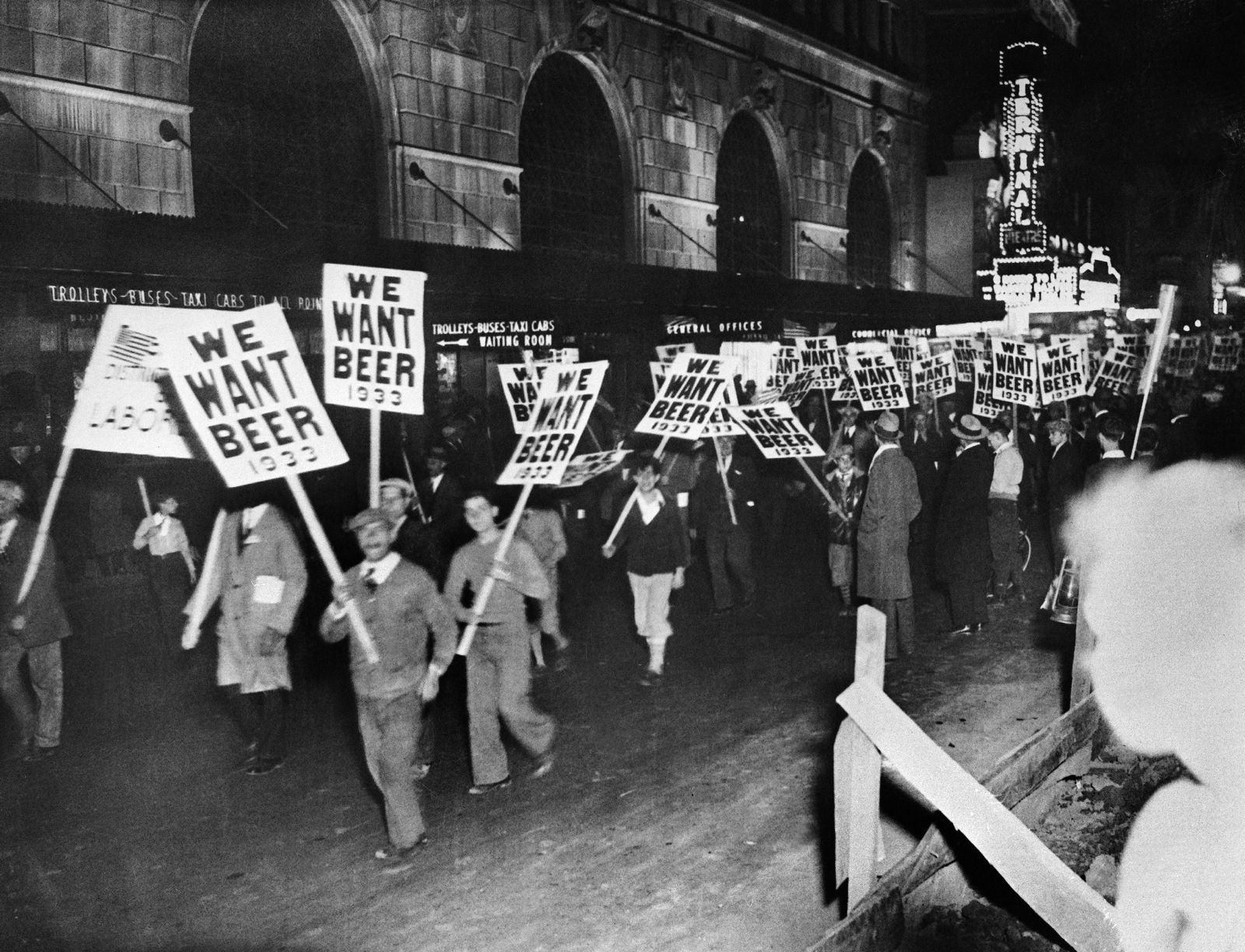 Prohibition - A Workers Demonstration For The Abolition Of Prohibition In New York In 1932