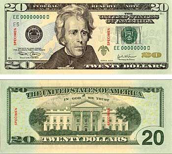 Farbiger 20-Dollar-Schein: Bekannt aus dem Fernsehen