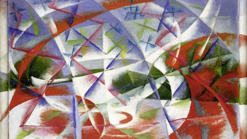 Ölgemälde »Abstract Speed + Sound« von Giacomo Balla, 1913/14