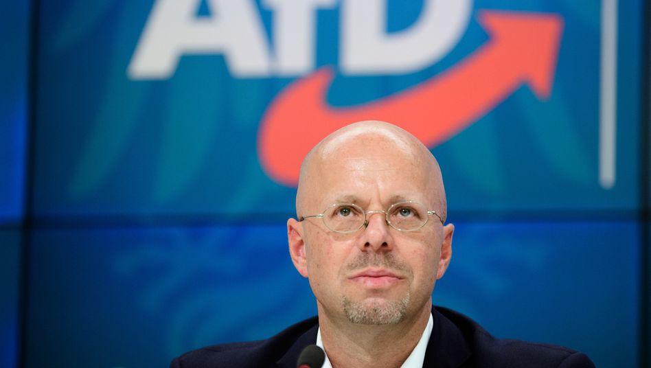 Andreas Kalbitz nach der AfD-Fraktionssitzung im Brandenburger Landtag