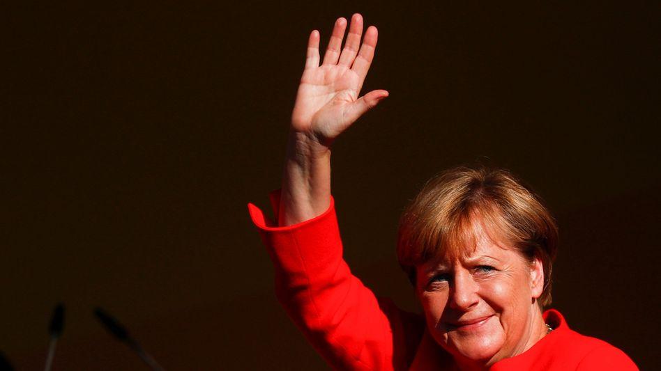 Kanzlerin Angela Merkel im August 2017