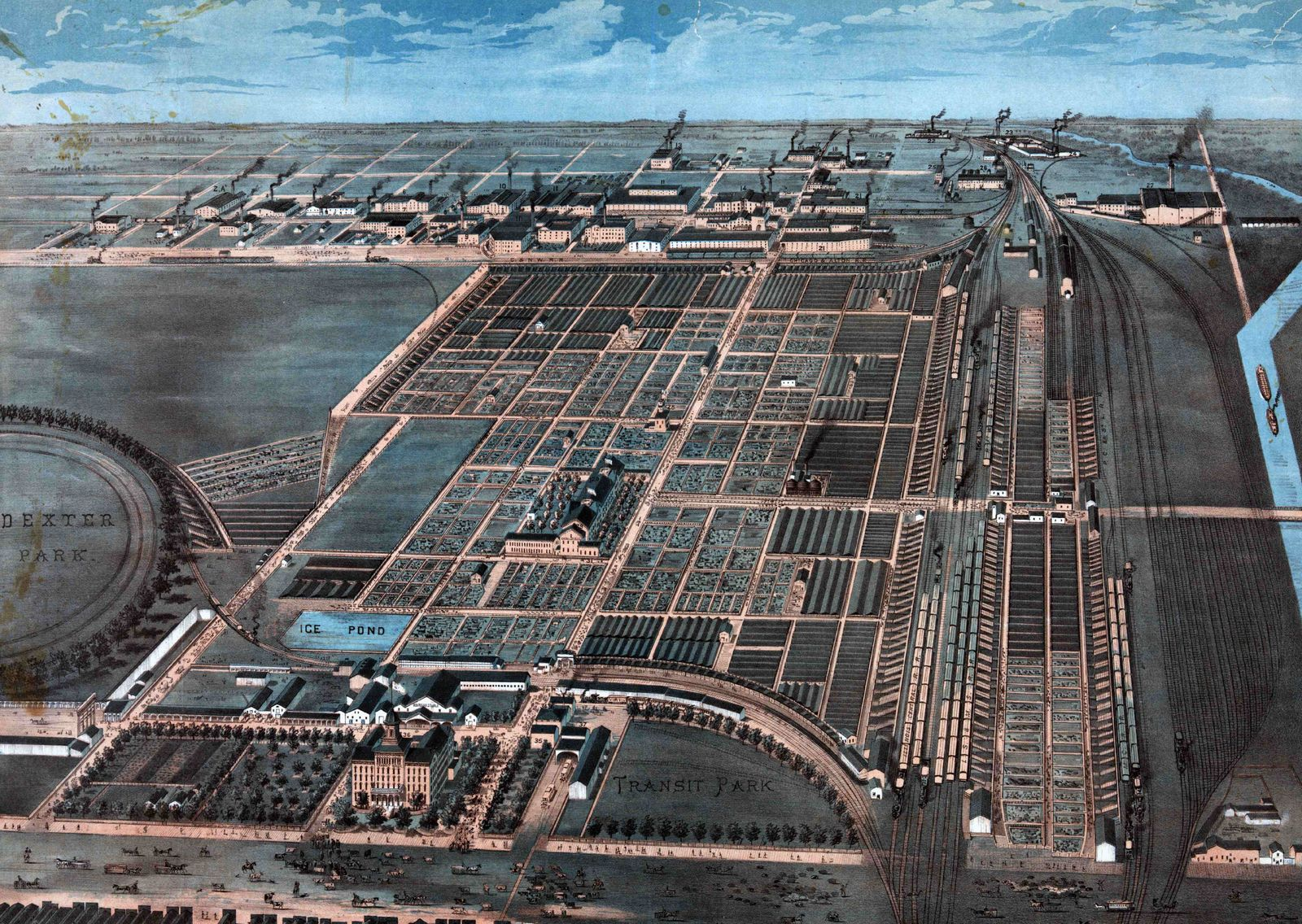 The Great Union Stock Yards of Chicago.