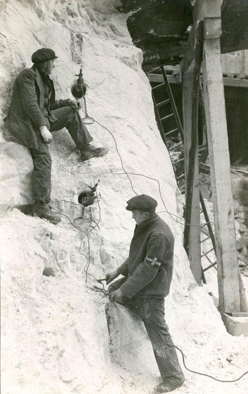 Gängige Routine: Lockerungssprengung bei der BASF in Oppau (1921)