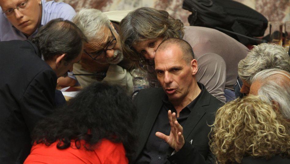 Yanis Varoufakis (im Juni): Der frühere griechische Finanzminister steht im Zentrum der Putsch-Gerüchte