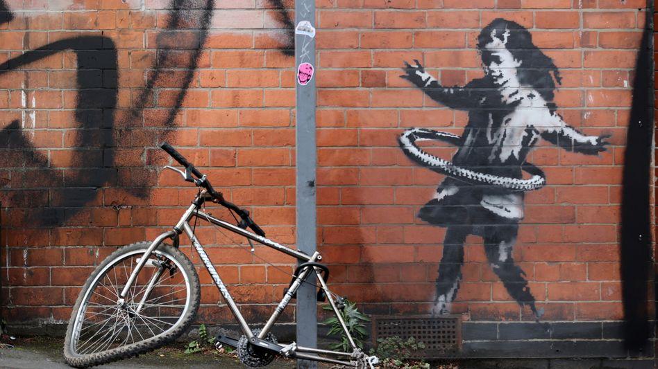 Banksy-Werk in der Rothesay Avenue in Nottingham