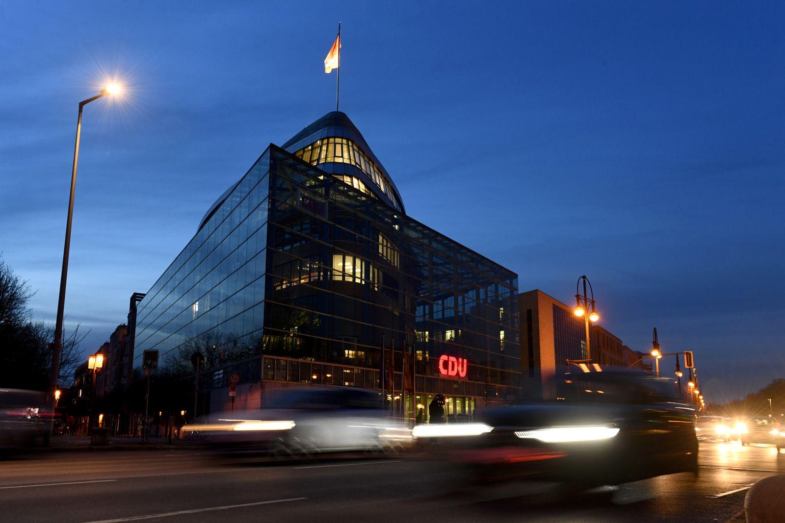 Christian Democratic Union (CDU) party headquarters in Berlin