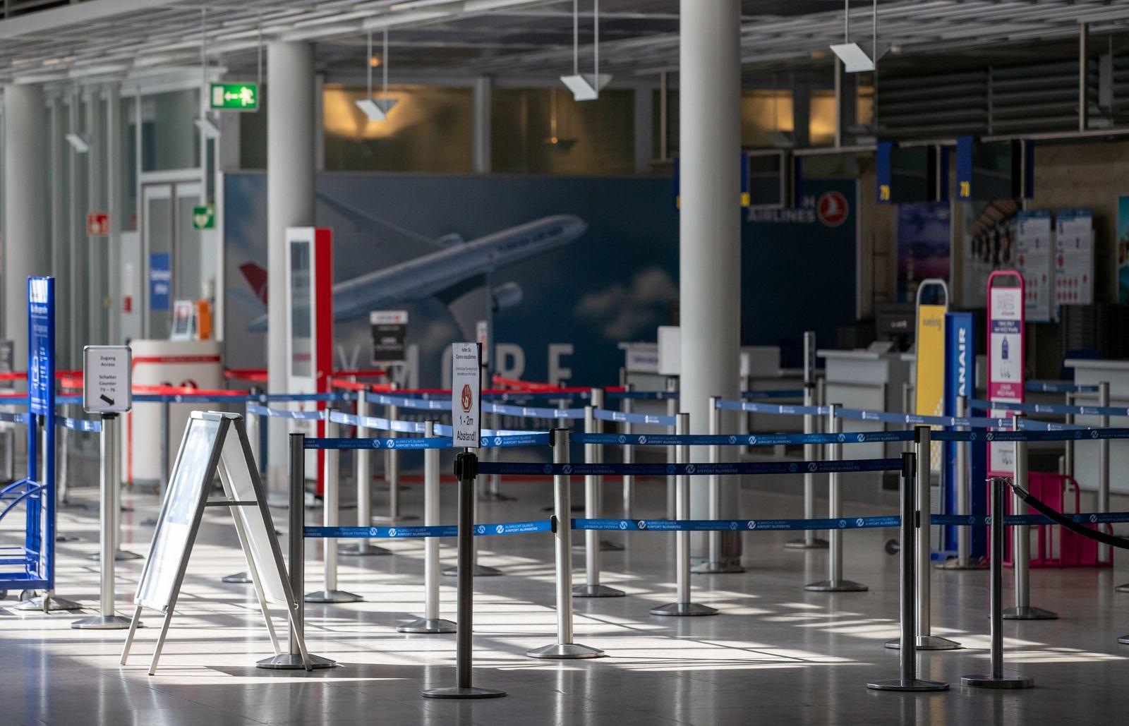 Coronavirus - Flughafen Nürnberg