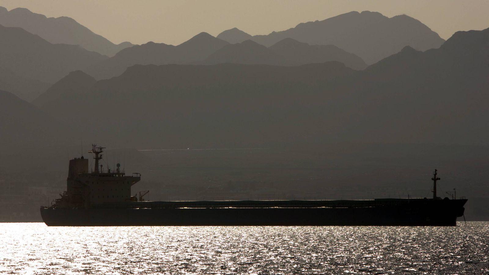 EINMALIGE VERWENDUNG Tanker Rotes Meer