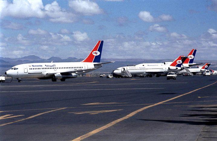 Jets von Yemenia Airlines in Sanaa (Archivbild): Absturz nach zwei Zwischenlandungen