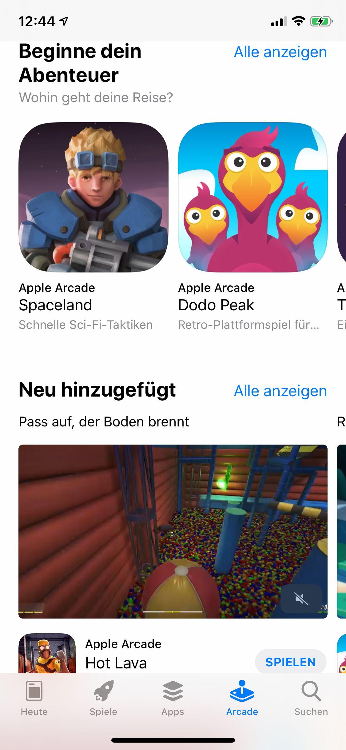 EINMALIGE VERWENDUNG Apple Arcade / 10 Spiele