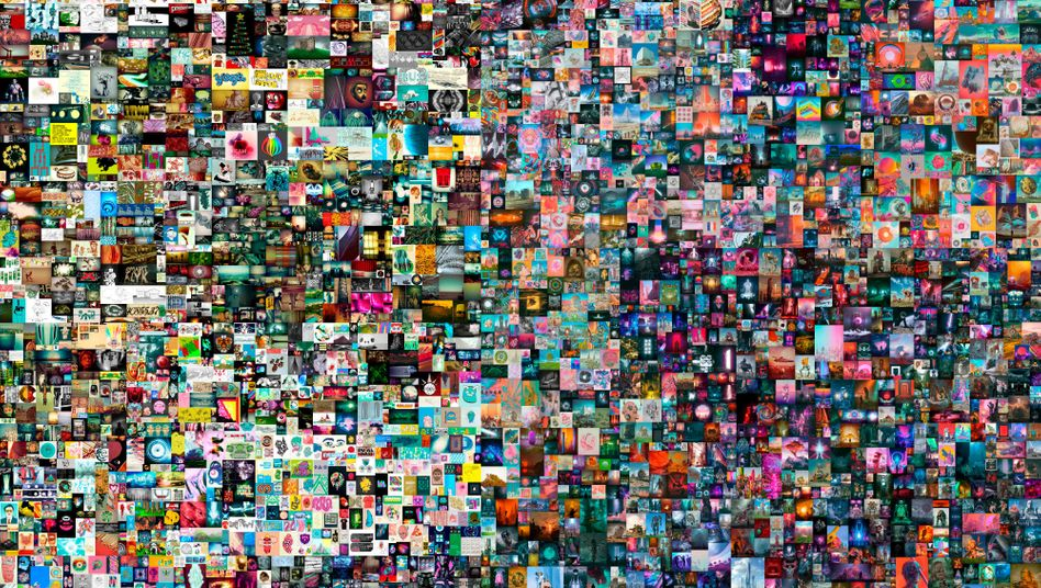 Jetzt offiziell 69 Millionen Dollar wert: das Kunstwerk »Everydays - The First 5000 Days« von dem Künstler Beeples