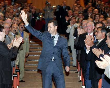 Syrian President Bashar Assad has hinted to his Baathist Party that its own survival requires real reforms.