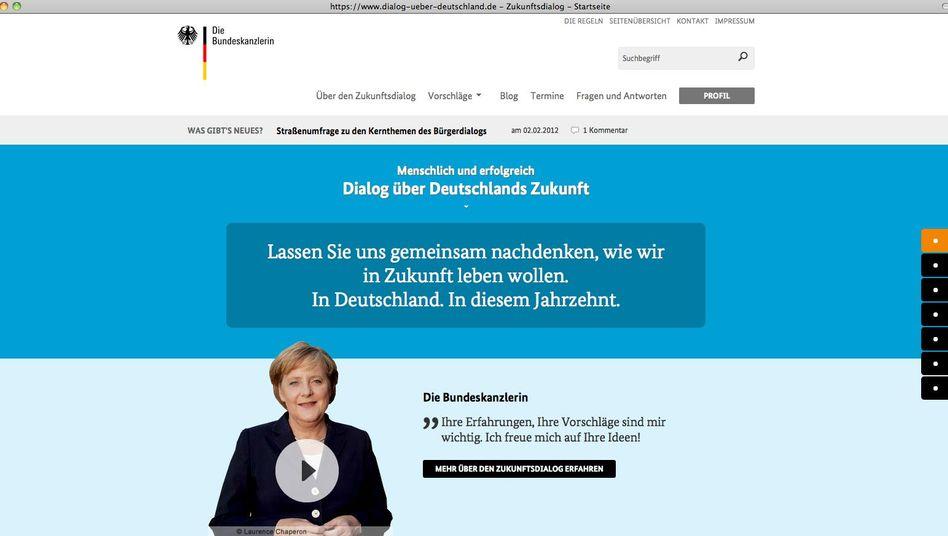 """""""Dialog über Deutschland"""": """"Ihre Vorschläge sind mir wichtig."""""""