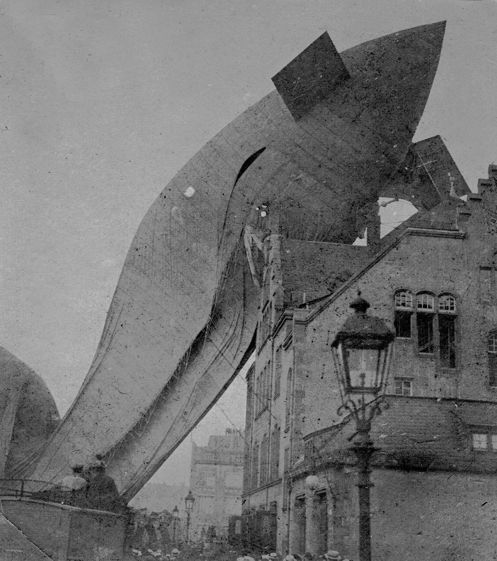Absturz des Prallluftschiffs 'Parseval', 1909