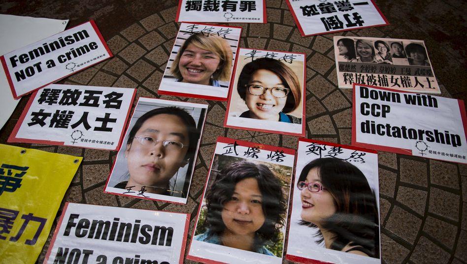Pekinger Protestgruppe: Chinalässt Sticker-Feministinnen frei