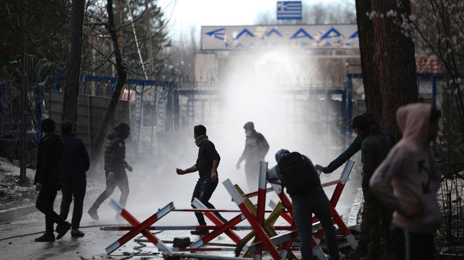 Türkisch-griechische Grenze Anfang März